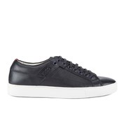 HUGO Men's Futesio Leather Trainers - Navy
