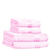 Restmor 100% Ägyptische Baumwolle 4 Stück Premium Handtuchset - Pink