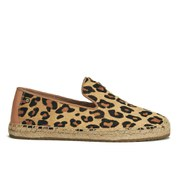 UGG Australia Women's Sandrinne Calf Hair Leopard Slip On Espadrille Shoes - Chestnut Leopard