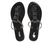 Melissa Women's T-Bar Flip Flops - Black