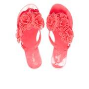 Melissa Women's Harmonic Garden Flower Flip Flops - Pink Neon