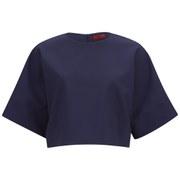 HUGO Women's Criske Cropped Top - Open Blue