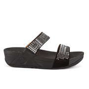 FitFlop Women's Aztec Chada Suede Slide Sandals - Black/Silver