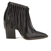 By Malene Birger Women's Ounni Leather Tassel Ankle Boots - Black