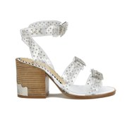 Toga Pulla Women's Clear Studded Block Heeled Sandals - Clear