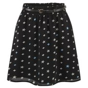 ONLY Women's Stardust Short Skirt - Black Print
