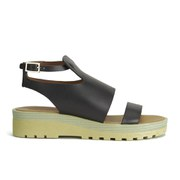 See by Chloe Women's Leather Flat Sandals - Black