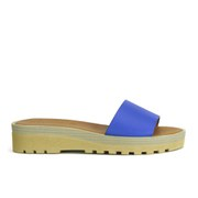 See by Chloe Women's Leather Slip-On Flat Sandals - Blue