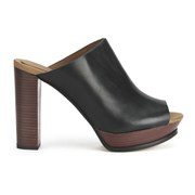See by Chloe Women's Leather Slip-On Heeled Shoes - Black
