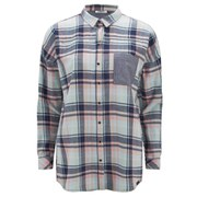 ONLY Women's Sade Check Shirt - Cool Blue