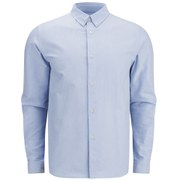A.P.C. Men's Button-Down Oxford Long Sleeve Shirt - Blue