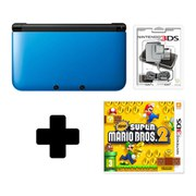 Nintendo 3DS XL Blue/Black New Super Mario Bros 2 Pack