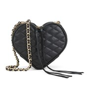 Rebecca Minkoff Women's Heart Cross Body Bag - Black