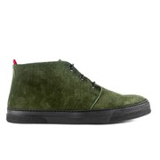 Oliver Spencer Men's Beat Perforated Suede Chukka Trainers - Moss Green
