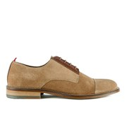 Oliver Spencer Men's Banbury Lace Up Suede Derby Shoes - Cognac
