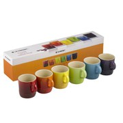 Le Creuset Stoneware Rainbow Espresso Mugs (Set of 6 x 100ml) - Multi