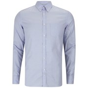 J.Lindeberg Men's Dani Button-Down Stretch Oxford Long Sleeve Shirt - Light Blue