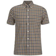 Aquascutum Men's Harrowby SS Club Check Shirt - Vicuna