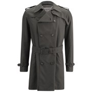 Aquascutum Men's Patmore Double Breasted Trench Coat - Brown