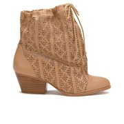 Vivienne Westwood Anglomania Women's Camilla Perforated Sack Ankle Boots - Tan