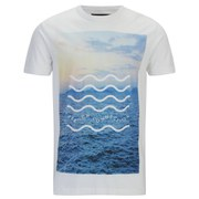 French Connection Men's Waves Short Sleeve Marlon T-Shirt - White