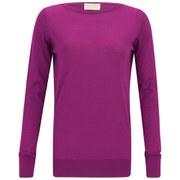 John Smedley Women's Alicia Cashmere-Mix Boat Neck Sweater - Verbena Pink