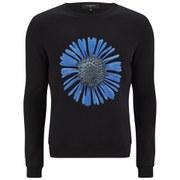 Ashley Marc Hovelle Men's Power Flower Sweatshirt - Black/Blue