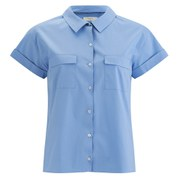 Paul by Paul Smith Women's Short Sleeve Shirt - Pale Blue