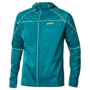 Asics Men's Fuji Packable Jacket - Cool Teal Wood Print