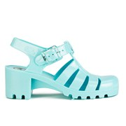JuJu Women's Babe Heeled Jelly Sandals - Paloma Blue