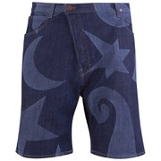Vivienne Westwood Anglomania Men's Asymmetric Shorts - Blue/White Denim