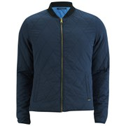 Scotch & Soda Men's Reversible Short Quilted Bomber - Navy