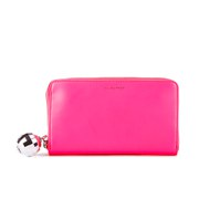 Lulu Guinness Women's Continental Wallet - Neon Pink