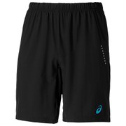 Asics Men's Woven 9 inch Running Shorts - Black/Atomic Blue