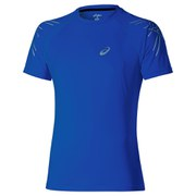 Asics Men's Stripe Shorts Sleeve Running T-Shirt - Air Force Blue