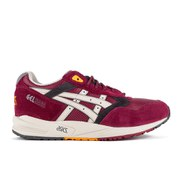 Asics Men's Gel Saga Trainers - Burgundy/Off White