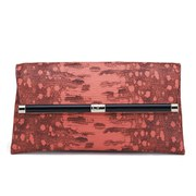 Diane von Furstenberg Women's Envelope Karung Leather Clutch Bag - Rosebud