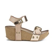 Ravel Women's Tennessee Metallic Cork Flatform Wedged Sandals - Rose