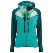 Myprotein Printed Panel Zip Through Hoody Kvinnor - Teal