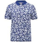 Lacoste L!ve Women's Coral Print Polo Shirt - Blue