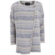 Maison Scotch Women's Woven Drapey Boucle Poncho - Multi