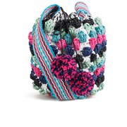 M Missoni Women's Raffia Duffle Bag - Blue