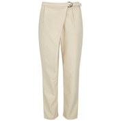 Lavish Alice Women's D Ring Peg Leg Trousers - Sand