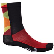 Santini Cinelli Chrome Coolmax Socks - Black/Orange