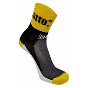 Santini Lotto Jumbo Coolmax Socks - Black/Yellow