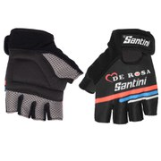 Santini De Rosa Summer Race Mitts - Black