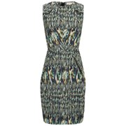 Matthew Williamson Women's Panel Mini Dress - Peacock Morph Ikat