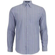 GANT Men's Sunset Oxford Stripe Long Sleeve Shirt - Indigo