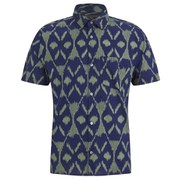 Marc by Marc Jacobs Men's Playa Printed Ikat Short Sleeve Shirt - Green