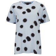 Marc by Marc Jacobs Women's Blurred Dot Printed T-Shirt - Blue Multi